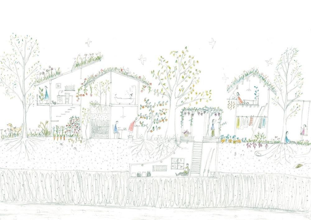 自然に還る家
